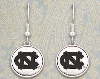 North Carolina Tar Heels Medallion Earrings