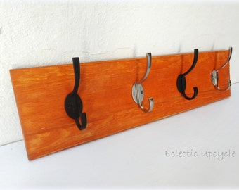 Pecan Stained  Rustic & Gorgeous Upcycled Coat Hook -