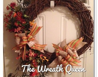Grapevine Butterfly Wreath