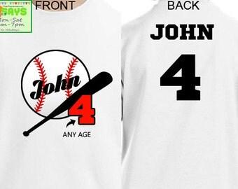Baseball Birthday Shirts, baseball birthday, baseball shirts, boy's birthday shirt, birthday boy, sport shirts, family birthday tee