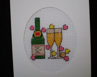 Lovely Handmade Cross Stitch Celebration Card