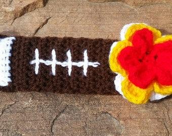 Crochet Football Headband, Headband
