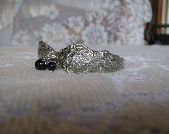 "Spoon bracelet, Spoon Jewelry, Vintage Silver Plate Flatware, ""Silver Renaissance"" by 1847 Rogers, 1971, Not so Chunky"