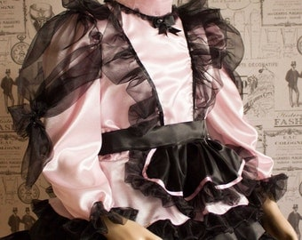 Mitzi – Sissy Satin & Organza Dress – In Pink Here But Ask About Other Colour Choices