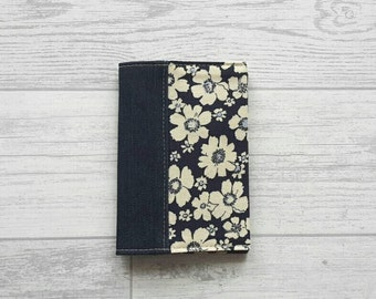 Fabric Passport Cover - Floral - Denim - Travel - Vacation