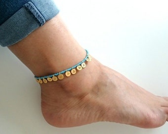 Ottoman foot necklace//silver-plated foot chain//Turkish jewelry//Gypsy anklet/Summer//gift/Butterfly/present/for