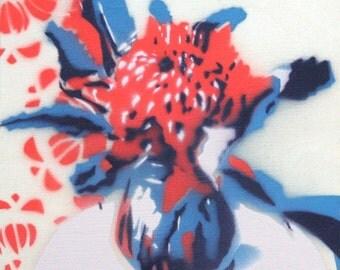 Waratah stencil 5/60