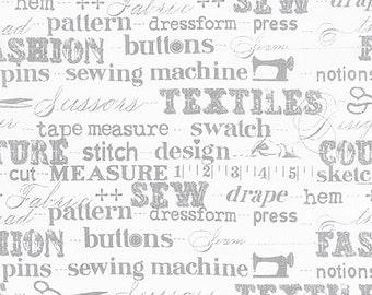 Sewing Studio by Cynthia Frenette - Grey - by Robert Kaufman