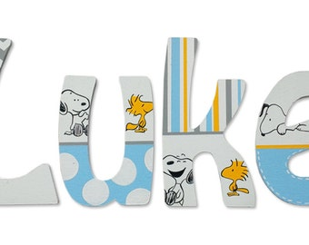 wooden letter snoopy – Etsy