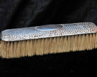 Vintage Old Sterling Silver Clothes Brush Arts & Crafts Hammered Finish