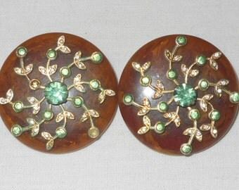 1950s Selro or Sellini  bakelite spray earrings