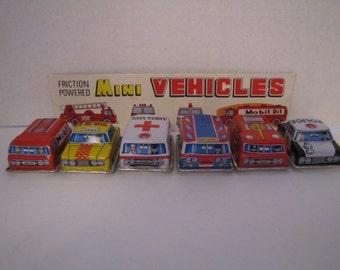 Vintage Mini Tin Vehicles Japan