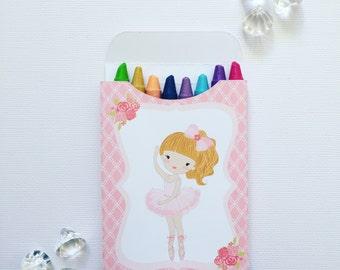 Ballerina crayon boxes