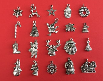The Large Christmas Charm Collection Antique Silver - CC011