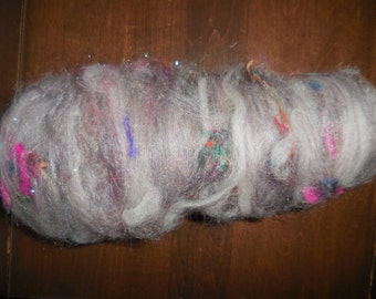 Sparkly Art Batt for Spinning, Felting, Fiber Art.  B20