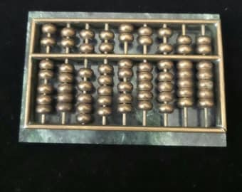 Brass Abacus on Marble Base