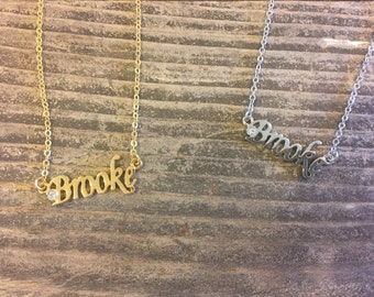 Brooke Necklace in Gold or Silver