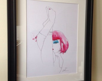The dancer, signed limited print A3