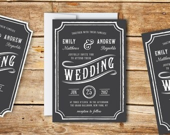 Wedding Invitation Template - Printable Wedding Invitation - Editable Wedding Template - Instant Download - Peppermint Collection