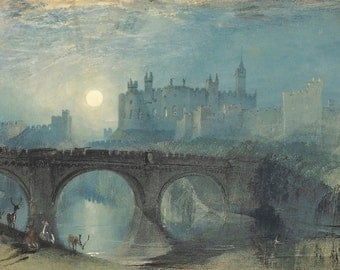 William Turner: Alnwick Castle. Fine Art Print/Poster (00563)