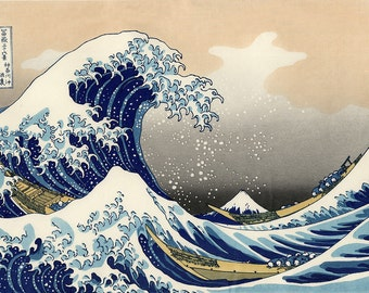 Hokusai: The Great Wave off Kanagawa. Fine Art Print/Poster (00217)
