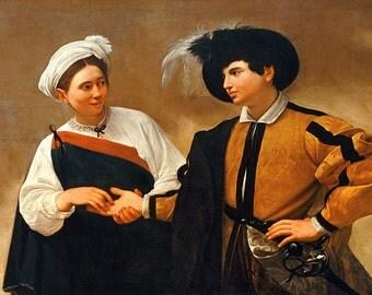Caravaggio: The Fortune Teller. Fine Art Print/Poster. (002086)