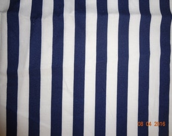 1 Yard of Blue & White Stripe Cotton Fabric by Riley Blake Pattern C530