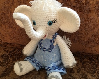 Elephant Crochet Play Toy