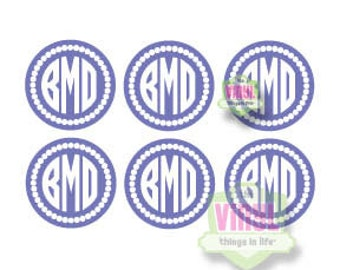 Monogram pack, Monogram sheet, Monogram sticker pack, Monogram stickers, Sheet of monogram decals, Monogram decal pack