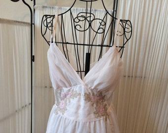Vintage Pale Pink Slip Dress