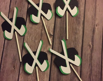 Hockey Cupcake Toppers, set of 12 or 24