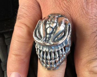 Sterling silver alien ring