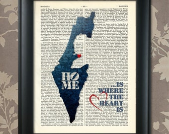 Israel Art Print, Israel Print, Israel Map Art, Israel Wall Art, Israel Pride, Israel Map Print, Israel Map, Israel Decor, Map of Israel