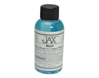 Jax Black For Copper/Brass - Jewelry Patina Antique Finish 2OZ - 45-90401
