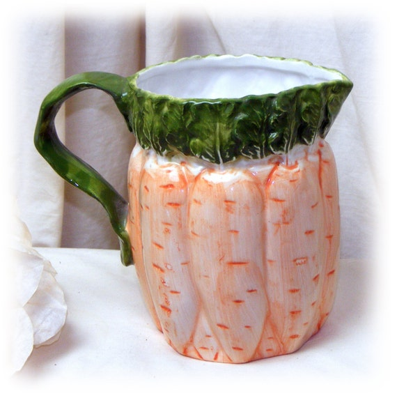 CARROT MOTIF PITCHER