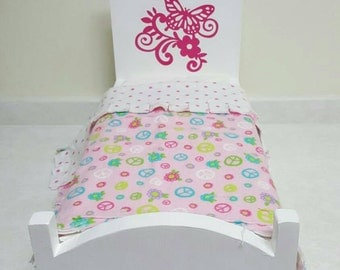 Doll Bed, Doll Furniture, For American Girl Size Doll, 18 inch Doll Furniture, 18 inch Doll Bed