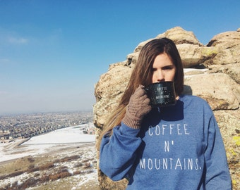 Coffee N' Mountains Crewneck Sweater