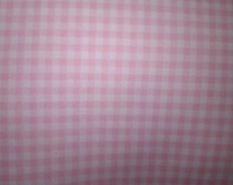 5.55 yards Pink Gingham
