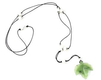 Jade Leaf Y-Necklace