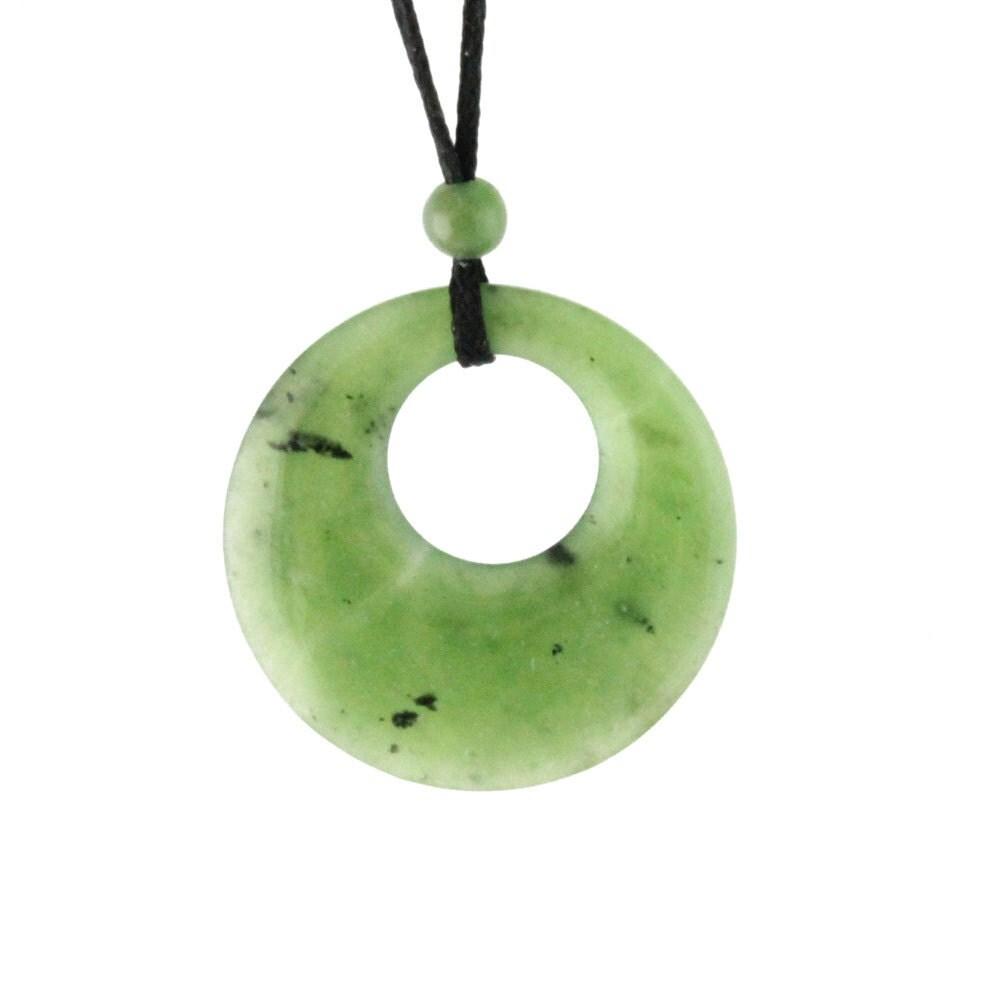 canadian nephrite jade circle of pendant