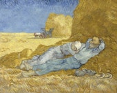 The Siesta by Vincent Van Gogh, Giclee Canvas Print