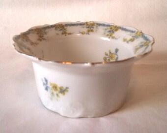 O. & E.G. Royal Austria hand painted porcelain ramekin, 1889-1918