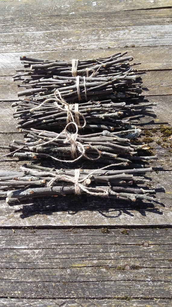 Wooden sticks apple tree twigs bundle natural branches small for Rustic home decor suppliers