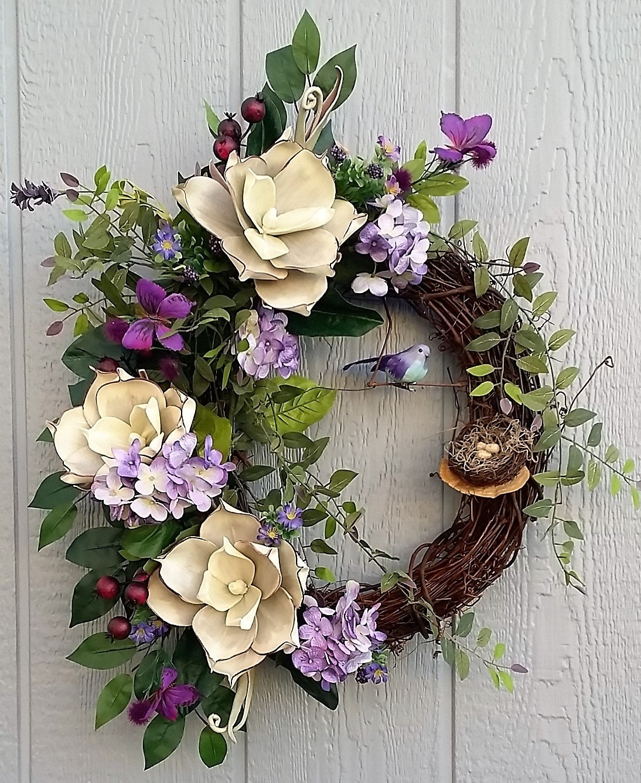 Spring Wreath Summer Wreath Elegant Wreath Grapevine