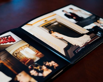 Custom Wedding Album + Parent Copies: 40-Page Wedding Photo Book - Wedding Album Design Professionally Printed in 3 Layflat Albums
