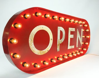OPEN sign! Marquee light