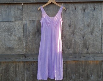 Soviet -Time Vintage Negligee Slip Ladies Purple Slip Size Small