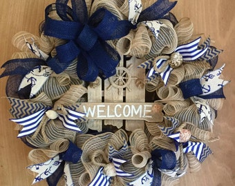 Welcome to the Beach Wreath
