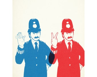 Good Cop bad Cop 40 x 50cm giclee print
