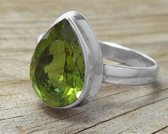 925 Sterling Silver Alexite Ring Size 8